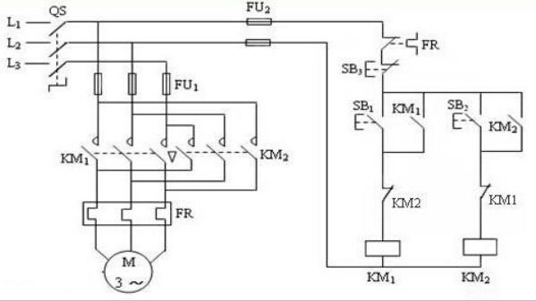 异步电机正反转控制电路