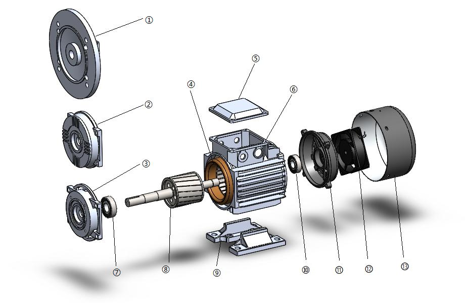 力矩电机结构详情图