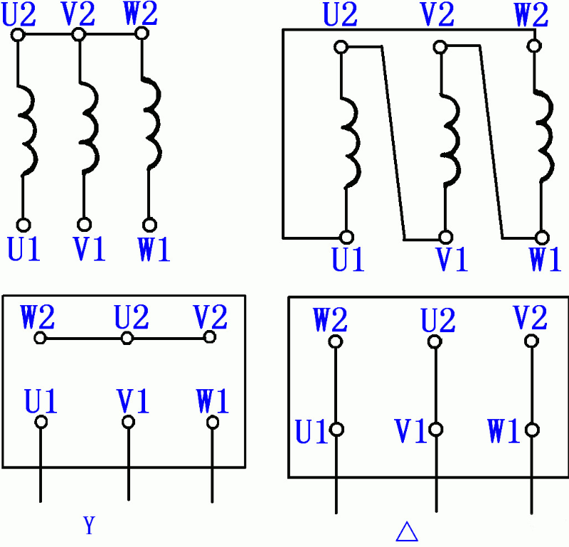 YS系列三相异步电动机接线图